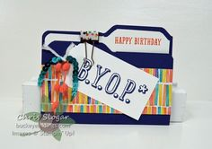 Buy Your Own Present gift card file folder using the envelope punch board. Great video tutorial.
