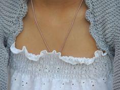 Bolero en algodón gris de Lan Fairy SS13.
