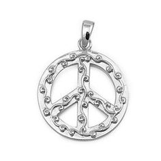 925 Sterling Silver Filigree Peace Sign Pendant (Jewelry) http://www.amazon.com/dp/B006ZCU0Y8/?tag=pindemons-20 B006ZCU0Y8
