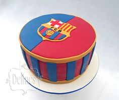Torta Barcelona Soccer Birthday Cakes, 9th Birthday, Birthday Parties, Cakes For Men, Cakes And More, Barcelona Cake, Bolo Fake Eva, Cookie Pops, Amazing Cakes
