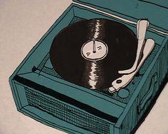 vinyl record illustrations