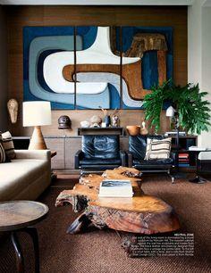Mid Century Modern living room in AD Spain. #MidCenturyModern