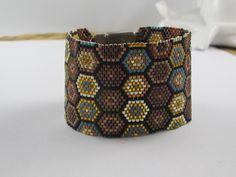 "Armbänder - Peyote-Armband ""Retro-Style"" - ein Designerstück von SweetlyBeadedThings bei DaWanda"
