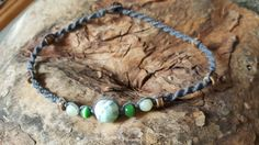 Check out this item in my Etsy shop https://www.etsy.com/listing/259736512/hemp-necklace-agate-beach-jewelry-hemp