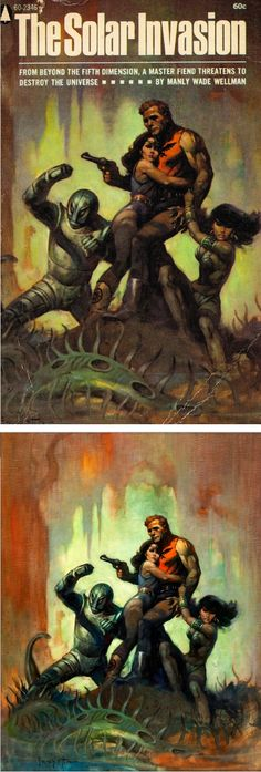 FRANK FRAZETTA - The Solar Invasion by Manly Wade Wellman - 1968 Popular Library - print/cover by capnscomics.blogspot.com