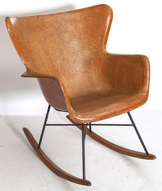 Lot: Lawrence Peabody Rocker, Lot Number: 0329, Starting Bid: $150, Auctioneer: Main Auction Galleries, Auction: Mid-Century Modern, Glass, Silver and Decor, Date: March 26th, 2017 PDT