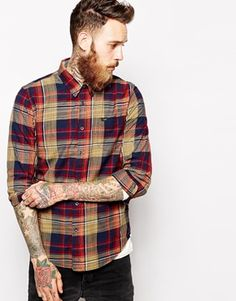 Lee Shirt Button Down Space Dyed Check