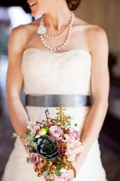 The Bride's beautiful bouquet // Weddings at The Crosby Club in Rancho Santa Fe