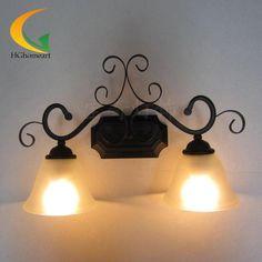 Europese stijl badkamer spiegel ijlend tuinverlichting muur kast bedlampje front deuren spiegel retro wandlamp(China (Mainland))