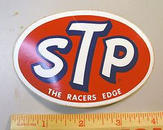 STP Motor Oil bumper stickers