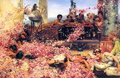 Ciekawostka z Rzymskiej uczty!  W starożytnym Rzymie biesiadnicy na znak świętowania nosili wieńce z kwiatów i byli wyperfumowani tzn. wysmarowani wonną oliwą.