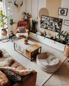 Best and stylish living room furniture design & decoration ideas 17 – fugar Boho Living Room, Home Living, Living Room Interior, Modern Living, Small Living, Apartment Living, Boho Room, Minimalist Living, Luxury Living