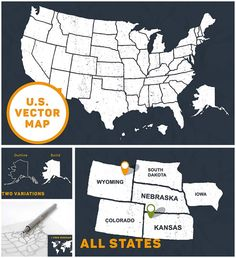 introducing illustrated map of united statesthat includes all u every single state was drawn by hand scanned and prepared for adobe illustrator