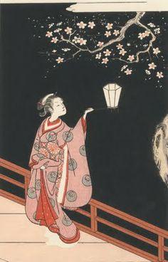 Suzuki Harunobu / The plum of night  鈴木春信:夜の梅