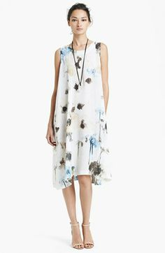 Watercolor Floral Print Linen Dress // from @nordstrom