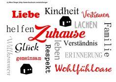 Silhouette plotter file free, plotter freebie, Plotterdatei kostenlos, Wortspiel, wordart, zuhause, at home