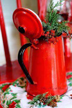 Aiken House & Gardens: A Pop of Christmas Red