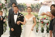 """Hand on heart: We love a good TV wedding. It's the perfect moment for a juicy """"speak now or forever hold your peace"""" revelation, a surprise shacking up of two characters (hello, Monica and Chandler), or perhaps just a heartwarming parody of a viral video that makes us weep tears of joy and doesn't"""