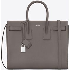 Saint Laurent Classic Small Sac De Jour Bag ($2,695) ❤ liked on Polyvore featuring bags, handbags, shoulder bags, genuine leather purse, real leather purses, real leather handbags, 100 leather handbags and leather key ring