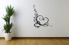 #Heart wall art decal vinyl #stickers with easy /transfer #application wall #stick,  View more on the LINK: http://www.zeppy.io/product/gb/2/181886017582/