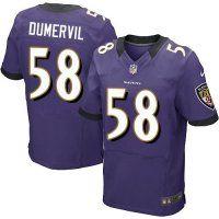 #58 Elvis Dumervil Baltimore Ravens Elite Jersey