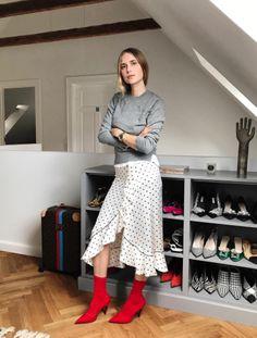 ce8ecf8c3ec Ganni street style | Pernille Teisbæk | Leclair Satin Skirt Satin Skirt,  Satin Dresses,