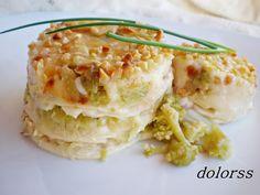 Blog de cuina de la dolorss: Lasaña de brócoli con nueces y almendras
