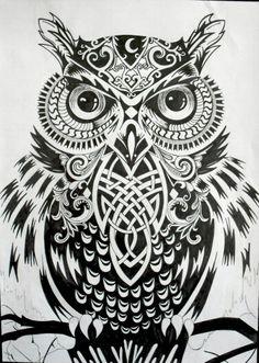 Great owl tattoo