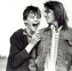 so young. Leonardo DiCaprio & Johnny Depp in What's Eating Gilbert Grape