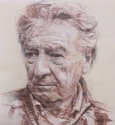 """James Ellis"" - Colin Davidson, graphite, crayon and pastel on paper, 2013 {contemporary figurative artist elderly male head man face portrait drawing} Drawing Skills, Life Drawing, Drawing Techniques, Drawing Sketches, Art Drawings, Portrait Sketches, Pencil Portrait, Portrait Art, Figure Sketching"