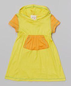 Yellow & Orange Hooded Dress - Toddler & Girls by Vanilla Crème #zulily #zulilyfinds
