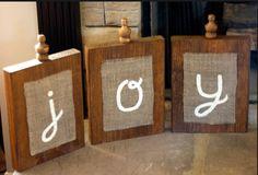 I like the simplicity of these blocks saying joy