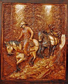 Relief Carving | Custom Wood Carvings | Western Art and Wood Carvings