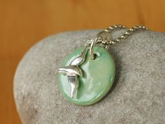Ketten lang - MaiLife - Silberkette mit Möwe und Seepferdchen - ein Designerstück von TonArts-Keramik bei DaWanda