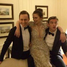 Emily Pontin: My three favourite people in one photo. @ twhiddleston @HayleyAtwell @thatdanstevens pic.twitter.com/KrKtC8MSzg