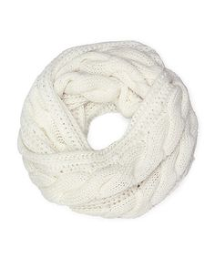 Cozy by LuLu - Fisherman's Cable Knit Infinity Scarf in Cream . Cozy, Comfy and just $20. Available  on @shoplately