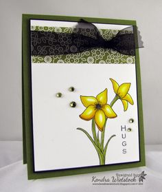 By: Kendra Wietstock; Gina K Designs (Vertical Greetings 2); Spectrum Noir Markers and Blendable Colored Pencils.