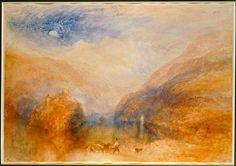 """Turner, William (Joseph Mallord W.). 1775–1851. – """"Lake of Brienz (The Lauerzer See, with the Mythens). Watercolour on paper, 36,8 × 54cm."""