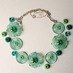 Teal Lampwork  Flower Glass Beads by Rachelcartglass, $34.00