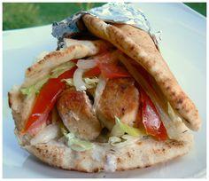 Greek Fast Food...Pita Souvlaki