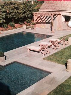 Bluestone patio around pool nantucket