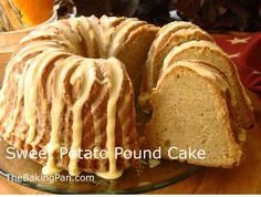 Every bite of this moist Sweet Potato Pound Cake recipe is filled with the taste of sweet potatoes and warm spices, and the orange flavored glaze drizzled over the top compliments the flavors perfectly. Sweet Potato Pound Cake, Sweet Potato Recipes, Sweet Potatoe Cake Recipe, Pound Cake Recipes, Pound Cakes, Spaghetti, Little Bit, Moist Cakes, Mashed Sweet Potatoes