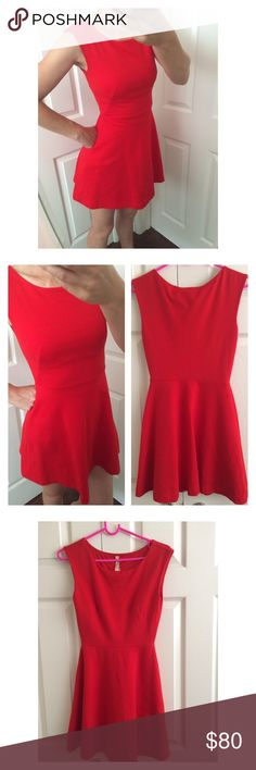 Bailey 44 Red Dress💄 Lady in red. Feel like Marilyn Monroe. A-line fit. Worn once. Like new. Stretchy and thick fabric. Anthropologie Dresses Mini