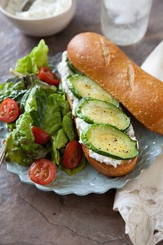 Vegan Roasted Zucchini and Ricotta Sandwich: sub cashew or tofu ricotta for a luscious vegan sammie.