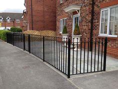 Ball top steel railings, galvanised and powder coated