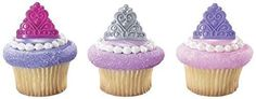 Princess Crown Tiara Royal Birthday Party Cupcake Rings (48-Pack) * Remarkable product available  : baking decorations