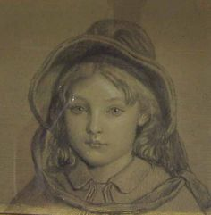 Study for the Oil Painting 'Madeline Scott' (1918.1019) | The Thomas Coglan Horsfall Collection