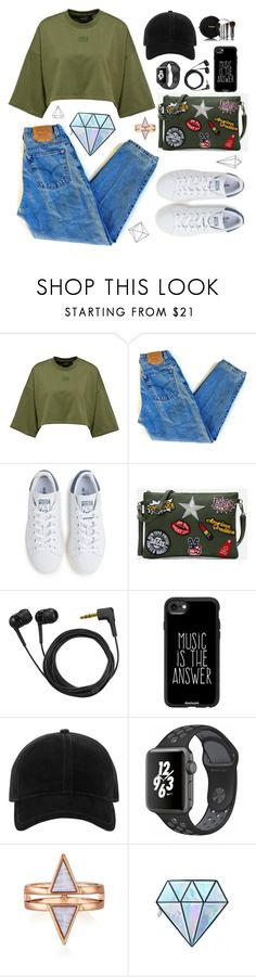 """26 ♡"" by n-13b ❤ liked on Polyvore featuring Levi's, adidas, Sennheiser, Casetify, rag & bone, NIKE, Unicorn Lashes, Chanel and Umbra"