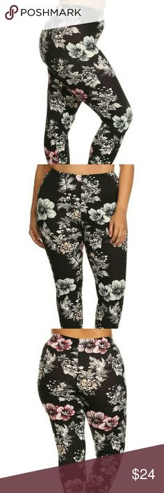 COMING Wedn💓PLUS SIZE SOFT Floral Print Leggings Super-soft PLUS SIZE floral leggings.  92% Polyester 8% Spandex  One size PLUS FIT (14-18/20)  COMING SOON, LIKE OR COMMENT FOR NOTIFICATIONS. boutique Pants Leggings