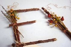 Twig letters
